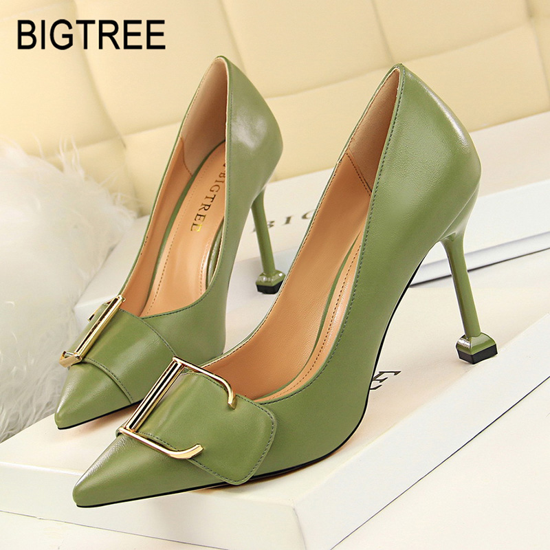 Bigtree Shoes Women Pumps Fashion Wedding Shoes Spring High Heel Women Shoes Patent Leather Women Party Shoe Female Stiletto