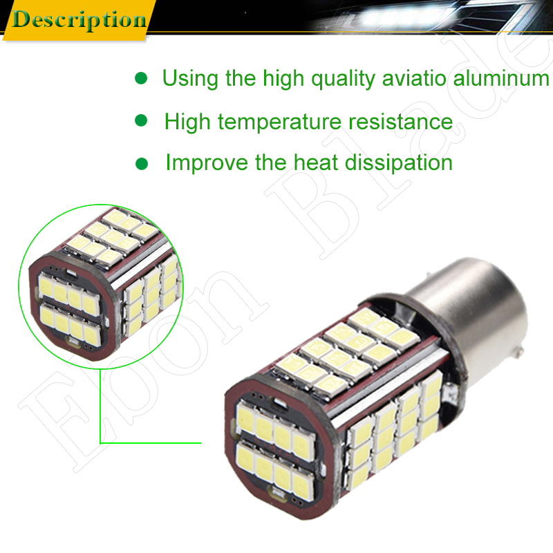 Image 4 - Pair 1156 BA15S P21W Led Auto Light 2835 56 SMD Lights Backup Reverse Turn Signal Bulb Lamp DRL Voiture Car Styling White 6V DC-in Signal Lamp from Automobiles & Motorcycles