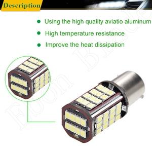 Image 4 - Pair 1156 BA15S P21W Led Auto Light 2835 56 SMD Lights Backup Reverse Turn Signal Bulb Lamp DRL Voiture Car Styling White 6V DC