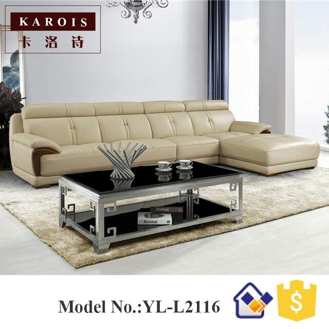 2017 Nuovo design moderno mobili soggiorno divano ad angolo in pelle ...