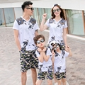 2017 New camouflage Summer Family Matching Outfits Girl Boy Sets cotton short sleeve T shirt & Shorts Pants casual