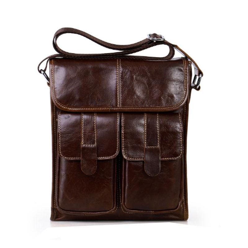 BULLCAPTAIN Men bag Genuine Leather Cross Body Vintage famous brand Designer Shoulder Bags Business Messenger Bags Briefcase