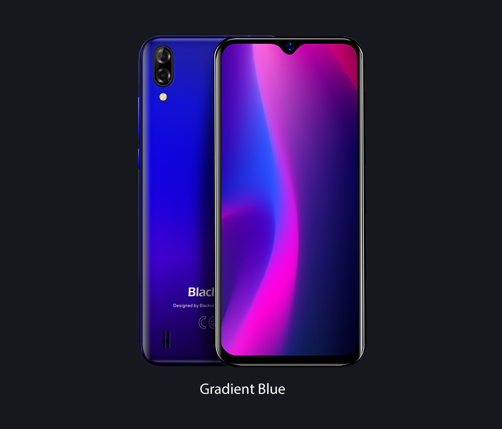 HTB1PAoqNNTpK1RjSZR0q6zEwXXa1 Blackview A60 Smartphone Quad Core Android 8.1 4080mAh Cellphone 1GB+16GB 6.1 inch 19.2:9 Screen Dual Camera 3G Mobile Phone