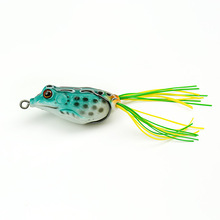 1 piece Plastic Frog Lure 55mm/8g Artificial Fish Tackle Topwater Simulation Frog Fishing Lure With Hook Soft Bass Bait