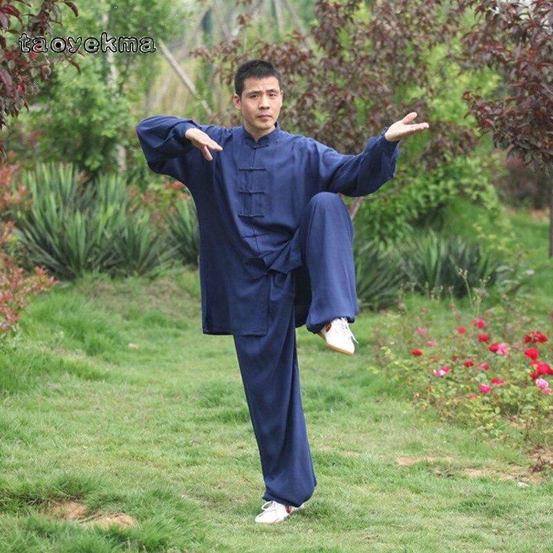 6ef236b8e Taoyekma High Quality 5 Colors Tai chi Uniform Cotton Wushu Kung fu Clothing  Kids Adults Martial