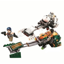 Bela 10369 Star Wars Rebels Ezra's Speeder Bike Building block set toys Sabine Wren Stormtrooper EZRA BRIDGER Minifigure Toys