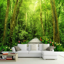 3d photo wall paper vintage decorative painting 3d wallpaper for living room  home improvement Nature forest tree wallpapers