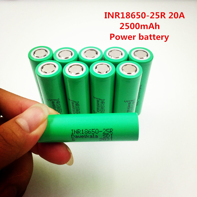 купить Made in Korea INR18650-25R 2500mAh 18650 battery 3.7 V discharge 20a Dedicated electronic cigarette battery power+Free shipping по цене 502.34 рублей