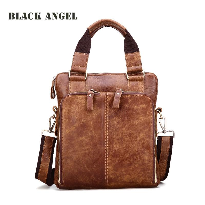 ФОТО New vintage genuine leather men bags cowhide leather messenger bags crossbody bag casual mens handbags