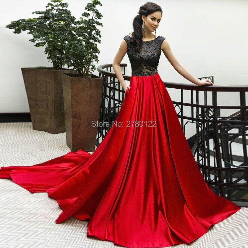 Elegant   Evening     Dresses   New Cap Sleeves Floor Length A-line Lace Applique   Evening   Gowns Vestidos de noite
