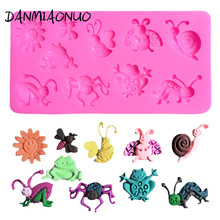 frog insects Silicone Mold Cake Decorating Tools Silicone Chocolate Mould 3d Soap Molds Food Grade Silicone Wedding Cake Stand цена