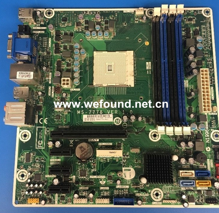 100% Working Motherboard for MS-7778 716188-001 700846-001, Fully Tested desktop motherboard for b305 system board fully 100% working tested new