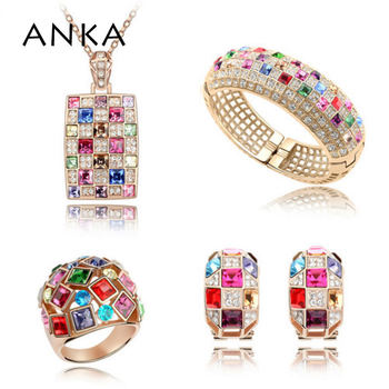 ANKA wedding jewelry sets crystal necklace set gifts for women Main Stone Crystals from Austria #87230