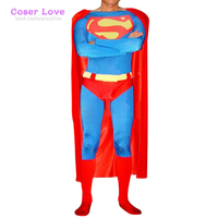 DC Superman Classic Red Cosplay Carnaval Costume Halloween Christmas Costume