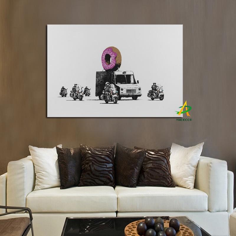 YWDECOR Pop Art Canvas Rəsm Kətan afişasında Zirehli Nəqliyyat - Ev dekoru - Fotoqrafiya 2