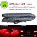 2 PC X LED Light Amortecedor Traseiro para Toyota WISH 10 harrier Alphard 20 séries Do Camry Reiz Yi Zhi YG010
