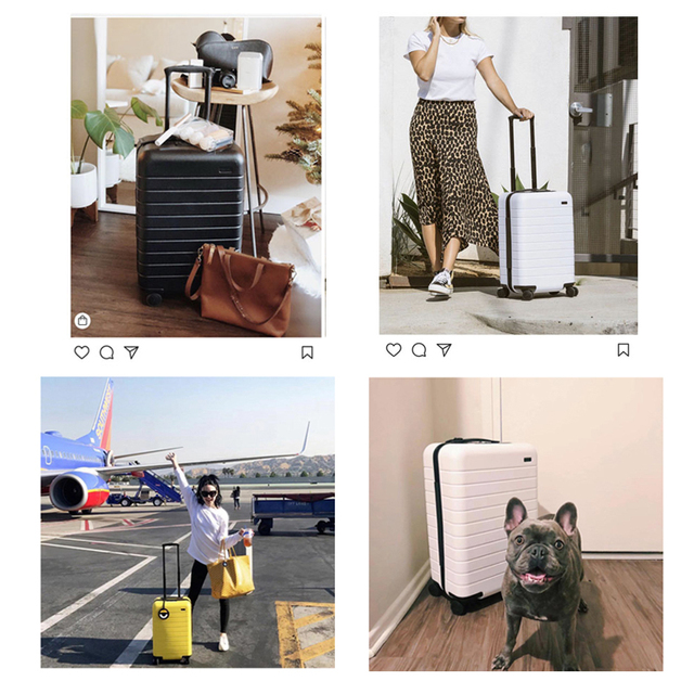 CARRYLOVE High quality, ultra light, sleek and simple 20/24/28 inch size PC Rolling Luggage Spinner brand Travel Suitcase