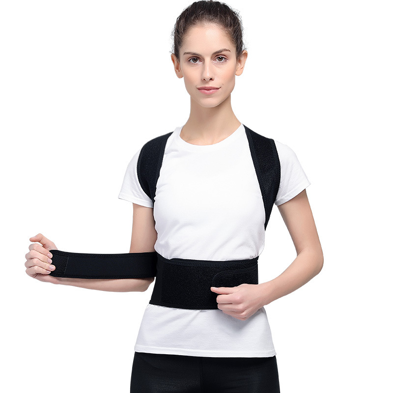 Adjustable Adult Corset Back Posture Corrector Therapy Shoulder Lumbar Brace Spine Support Belt Posture Correction For Men Women