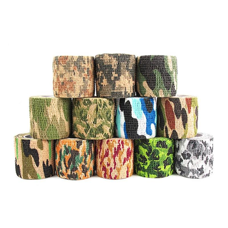 Hunting Security Protection Camouflage Self Adhesive Elastic Bandage 4.5m First Aid Kit Nonwoven Cohesive Tattoo Grip Bandage