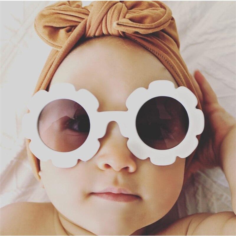 Good Win Fashion Vintage Flower Kids Sunglasses Round Baby Boys Girls Sunglasses UV400 Mirror Gradient Glasses Kinder Zonnebril