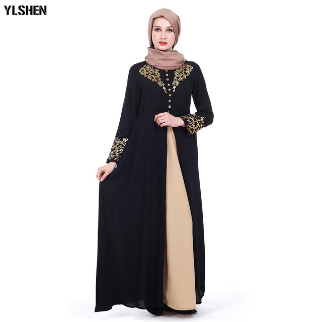 Plus Size Muslim Abaya Dubai Women Maxi Dresses Ramadan Moslim Prayer Robe Hijab Dress Kaftan Islamic Turkey Islamic Clothing 4
