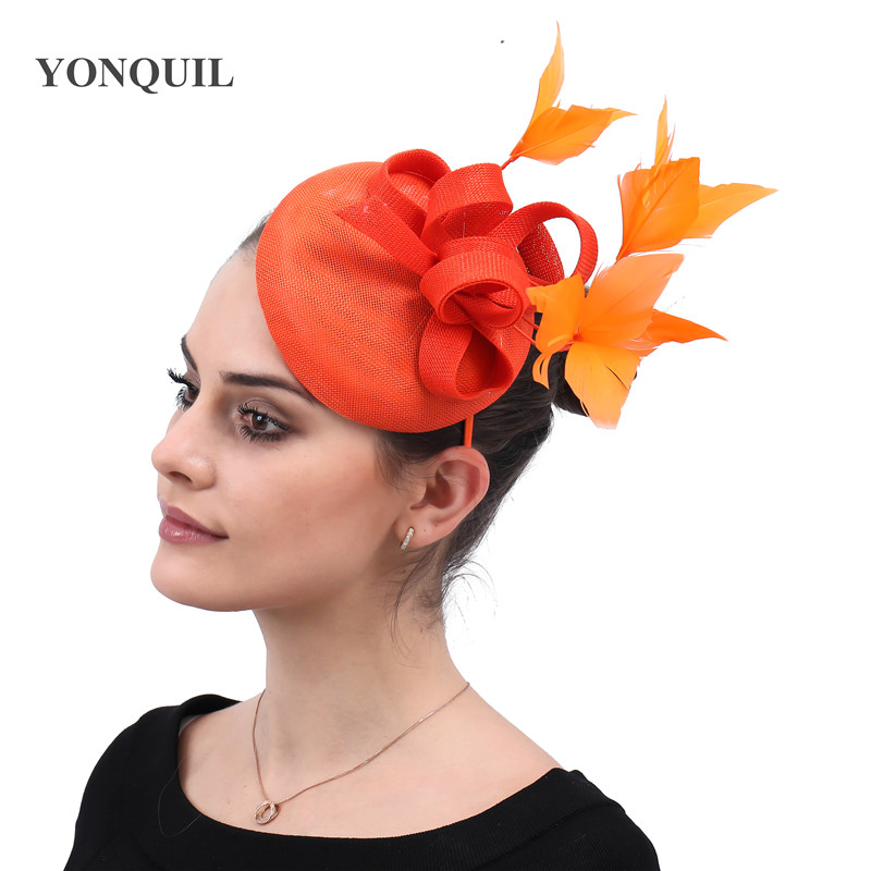 Новые женские шляпки с сеткой цвета хаки, модные женские шляпы с лентами для свадебной вечеринки, красивые аксессуары SYF570