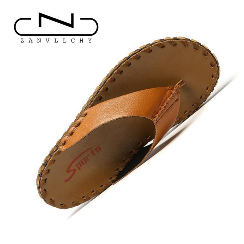designer flip flops m826  ZANVLLCHY V茅ritable Designer de Cuir Hommes Flip Flops Haute Qualit茅 D'茅t茅  Sandales 脌 La