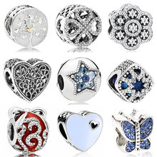 Vintage Punk Small Apple Dog Tree Love Hearts Flowers Beads Charms Fit Pandora Bracelets & Bangles for Women New Fashion DIY(China)