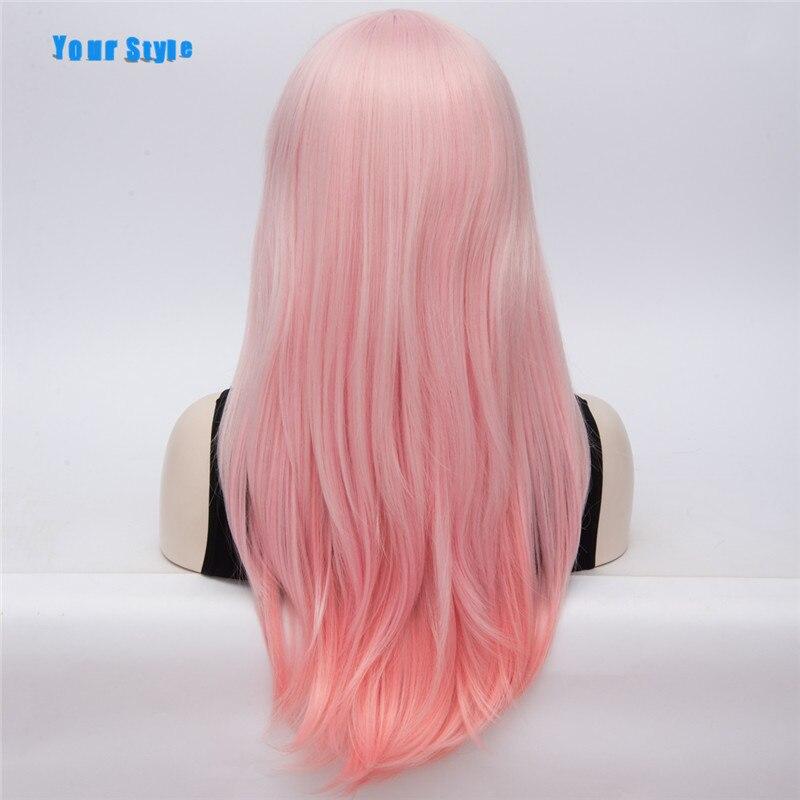 Ваш Стиль Длинные Синтетические Ombre естественная Поддельные волос полный парик женские