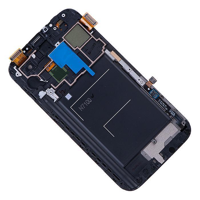 Pantalla montado con pantalla táctil y panel frontal para Samsung Galaxy Note 2 GT-N7100 blanco AAA + herramientas