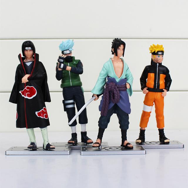 4 Pcs Naruto Anime Figure Toys