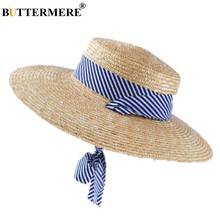 85e2c76f30a1d BUTTERMERE Mulheres chapéu de Sol Chapéu de Aba Larga 11 centímetros Rendas  Até Senhoras Elegantes Ráfia Chapéu de Palha Da Prai.