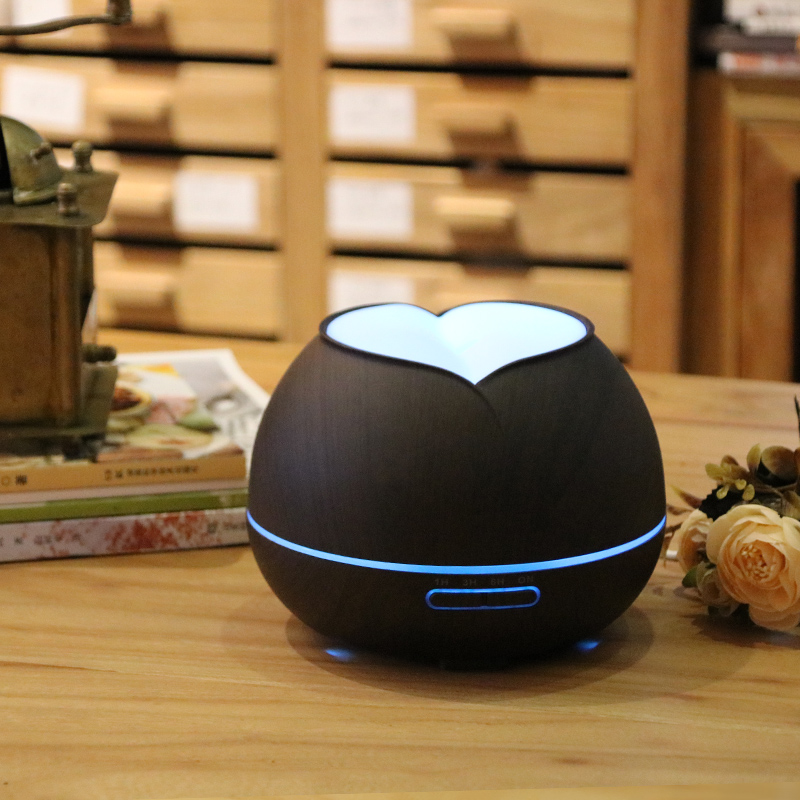300ML 7 Changing Color LED Wood Grain 9W Ultrasonic Aroma Essential Oil Diffuser Aromatherapy Air Humidifier For Home SPA office hot sale humidifier aromatherapy essential oil 100 240v 100ml water capacity 20 30 square meters ultrasonic 12w 13 13 9 5cm
