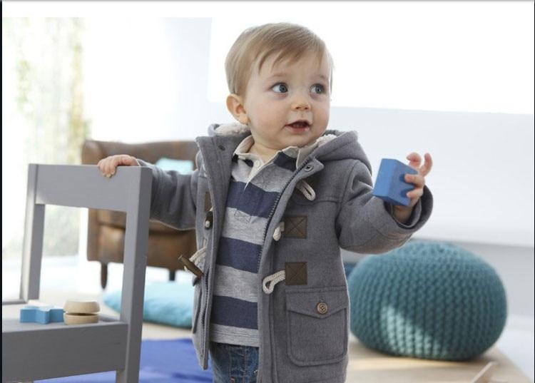 Új 2016 Baby Boys Gyermek felsőruházat Kabát divat gyerekek dzsekik fiú lányok téli kabát Meleg kapucnis gyermek ruházat