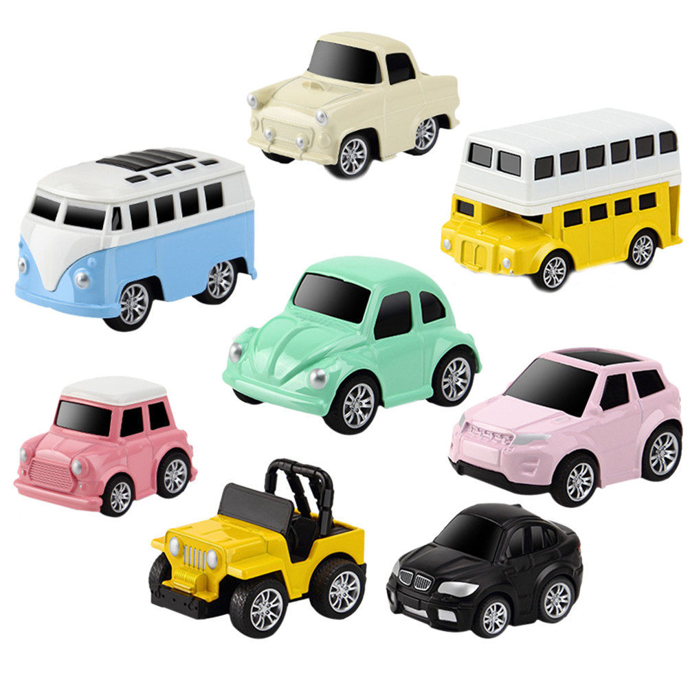 8Pcs/Set Children Toy Car Pull Back Mini Vehicle Car Toys Alloy Vehicles Set For Kids Hot Wheels Children Kids Birthday Gift