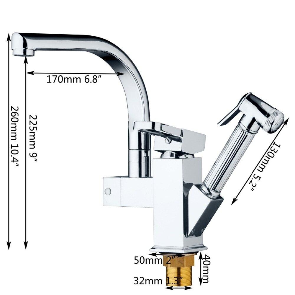 KEMAIDI robinet mitigeur de cuisine en laiton massif robinet de cuisine chaud et froid robinet d'eau monotrou robinet de cuisine torneira cozinha - 3