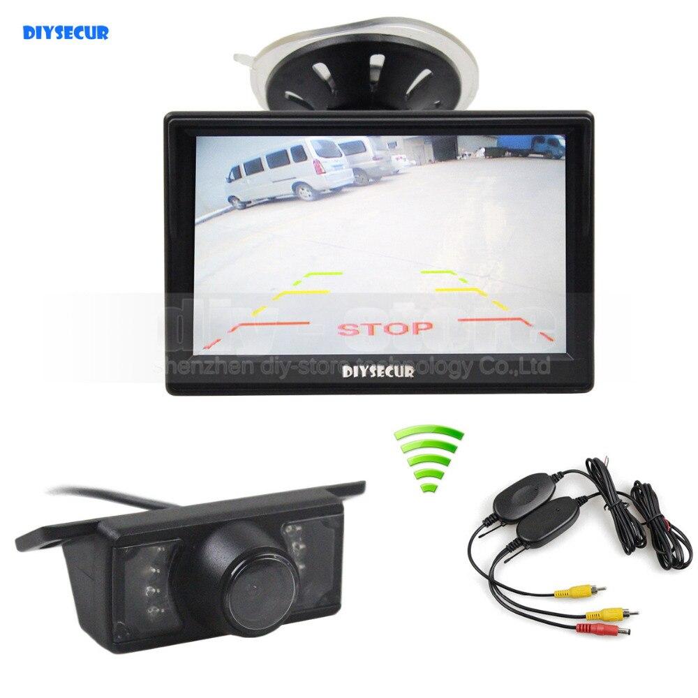 DIYSECUR Wireless 5inch Rear View Monitor Car Monitor Car Van Truck Parking IR Night Vision Reversing Camera Security System