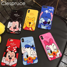 ФОТО cute 3d cartoon bow palms minnie mickey mouse soft silicone case for apple iphone 6 6s 6s plus 7 7 plus black red back cover