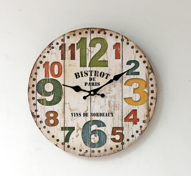 Great amricain stickers muraux horloges salon horloge murale maison de mode ameublement for Maison du monde pendule