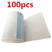 100pcs 68x30cm electrostatic cotton for xiaomi mi air purifier pro / 1 / 2 universal brand air purifier filter Hepa filter все цены
