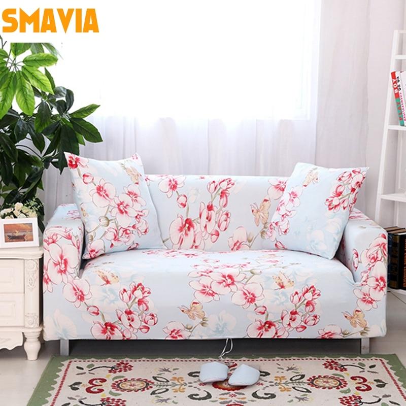 Smavia Flowers Pattern Elasticity Sofa Cover 100