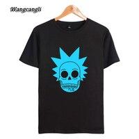 WANGCANGLI Rick And Morty T Shirts Print Cotton Tshirts Homme Women Men Short Sleeve Autumn Fashion