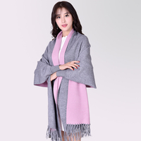 New Design Women Scarf With Sleeves Pure Color Winter Scarf Imitated Wool Cashmina Pashmina Cape 2017