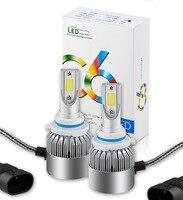 2 PCS COB 9006HB4 7600LM 76W LED Car Headlight Kit Hi/Lo Turbo Light Bulbs 6000K