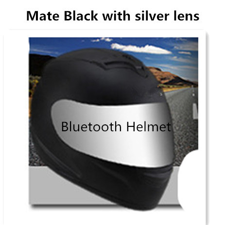 Image 2 - motor motorcycle hat Full Face helmet with lens safety helmet DOT helmet phone call music bluetooth Moto helmet  S  matte black-in Helmets from Automobiles & Motorcycles