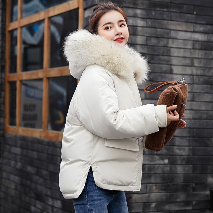 Winter Jacket Women Large Fur Collar Down Wadded Jacket Female Cotton-padded Jackets Thickening Women Winter Coat