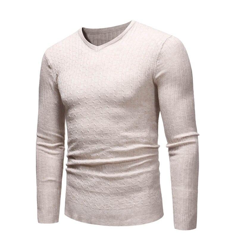 2018 Herbst Mode Casual Männer Pullover V-ausschnitt Pullover Slim Fitness Männer Klassische Pullover Pullover Plus Größe 3xl Mq799