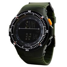 Sports Men Boys Outdoors Rubber Band Round Dial Electronic Movement Wrist Watch цена