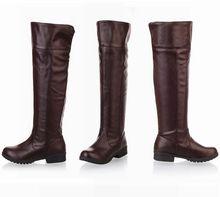 women Attack on Titan cosplay long boots Shingeki no Kyojin Over-the-Knee boots Eren Jaeger Ackerman Shoes 6501