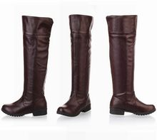 2017 women Attack on Titan cosplay long boots Shingeki no Kyojin Over-the-Knee boots Eren Jaeger Ackerman Shoes 6501(China)